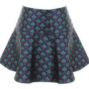 Club Monaco floral satin flare out skirt
